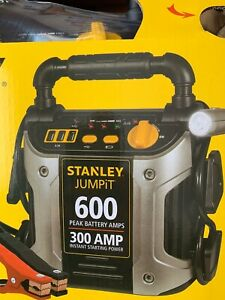 Stanley 600 Amp Portable Jump Starter Car Jump Start Cables With Light Usb Ports