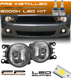 For 05 12 Ford Mustang 4f9z 15200 Aa Direct Replacement Fog Lights Assembly Led