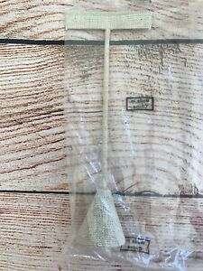 Earring Display T Stand Linen Texture Cream New