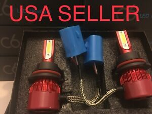 6000k Led Lights Headlight Kit 9007 Hb5 Hid Direct Plug In Opt 7 Harness Adapter