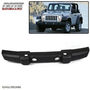 Front Bumper Cover For 2007 2018 Jeep Wrangler jk W Fog Lamp Holes Textured