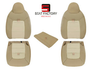 2003 2006 Ford Expedition Eddie Bauer Driver Passenger Leather Seat Covers Solid