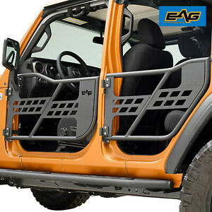 Eag Safari Replacement Tube Door With Mirror Fit For 18 20 Jeep Wrangler Jl 4 Dr