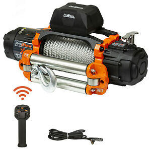 Prowinch 9 500 Lbs Electric Waterproof Winch Steel Rope Steel Roller 24v Wire