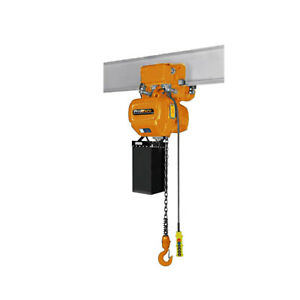Prowinch 1 2 Ton Electric Chain Hoist With Electric Trolley Double Speed 20ft Li