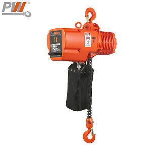 Prowinch 1 Ton Electric Chain Hoist 20 Ft G100 Chain H3 208 230 460v Wireless