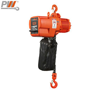 Prowinch 1 2 Ton Electric Chain Hoist 20 Ft G100 Chain H3 208 230 460v Wireless