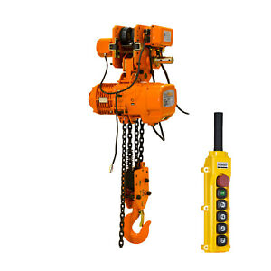 Prowinch 2 Speed 7 Ton Electric Chain Hoist Power Trolley 29 Ft G100 Chain M