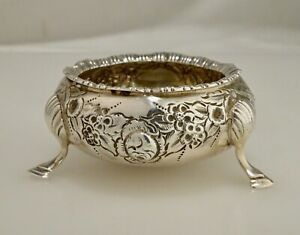 English 1897 Sterling Silver Open Salt Dip Cellar Dish 59293