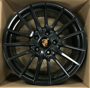19 Porsche Wheels Cayman Powder Black 991 996 997 Boxster Rims 19x8 5 11 Germany
