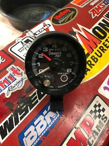 Summit Racing Tachometer 44278 With Shift Light 4 6 8 Cyl Black Face Clean