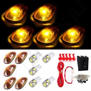 5 Sets Amber Cab Marker Running Light White Led Wiring For 99 02 Dodge Ram