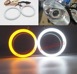 Switchback Led Halo Rings For Benz W211 E200 E270 Cdi 03 09 Headlight Drl Lamp