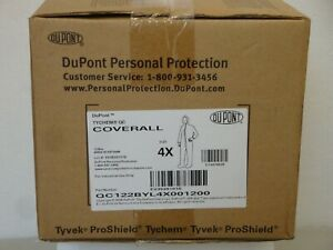 New In Box Dupont Tyvek Proshield Tychem Qc Protective Coveralls
