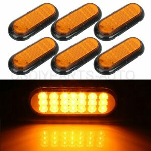 6x 6 21 Led Yellow Car Side Marker Bright Signal Tail Lights 12v Universal