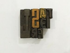 Letterpress Letter Wood Type Printers Block lot Of 7 Typography eb 181