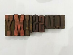 Letterpress Letter Wood Type Printers Block lot Of 9 Typography eb 180