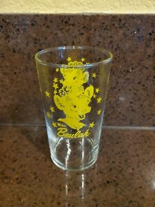 Vintage Bordens Elsie the Cow & Beulah Drinking Glass Advertising