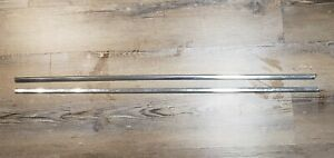 1971 1974 Amc Amx Javelin Lh Rh Upper Door Stainless Steel Trim Moldings Oem