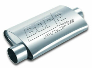 Borla Universal 2 5in Center Inlet Offset Outlet Pro xs Exhaust Muffler Oval