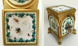 19c Bronze Hinged Box With Five Enamel Plaques