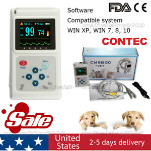 Veterinary Pulse Oximeter Cms60d vet ear Tongue Spo2 Probe pc Software Usa Store