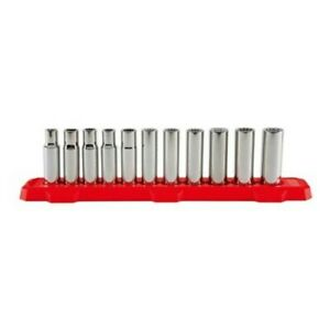 Craftsman 11 piece Metric 1 2 in Drive 12 point Deep Socket Set With Fastener