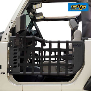 Eag Matrix Steel Tube Door With Mirror Pair Fit For 07 18 Jeep Jk Wrangler 2door