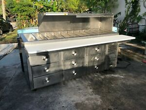 Prep Table Kairak Krp 89sm Refrigerated Drawered Cooler Stainless Steel