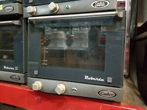 Cadco Quarter Size Countertop Electric Convection Oven Holds 1 4 Size Sheet Rack