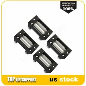Winch Roller Fairlead Heavy Duty Roller Cable Guide Universal For 3k 4klbs 4pcs