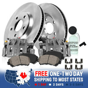 Front Calipers Brake Rotors Ceramic Brake Pads For 2007 2011 Rdx Honda Cr v