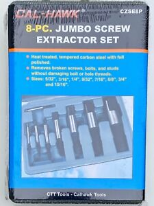 8 Piece Jumbo Bolts Extractor Easy Out Drill Broken Screws Studs Remover