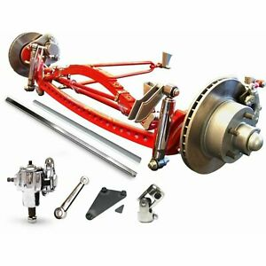 Model A 1932 Ford Super Deluxe Hair Pin Drop Drilled Axle Kit Roadster Sedan