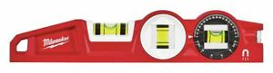 Milwaukee Die cast Aluminum Torpedo Level 10 Length Magnetic Top Read Yes