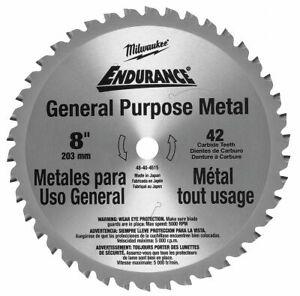 Milwaukee 8 Cerment Metal Cutting Circular Saw Blade Number Of Teeth 42