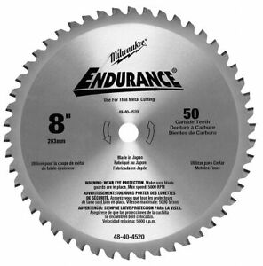 Milwaukee 8 Cerment Metal Cutting Circular Saw Blade Number Of Teeth 50