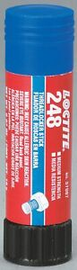 Loctite 248 Series Medium strength Threadlocker Blue Solid 0 67 Oz Stick
