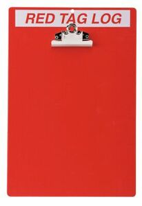 Brady Red whitered Tag Clipboard Unfilled 14 X 9 1 2