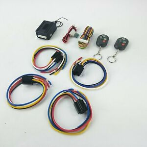 Street Rod Remote Control Keyless Entry System Harness Shaved Door Handle Kit