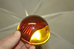 Red Glass Lens Tail Stop Light Cover Old Antique License Plate Light 3 1 4 O a