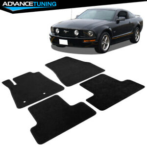Fits 05 09 Ford Mustang Coupe Oe Fitment Car Floor Mats Front Rear Black Nylon