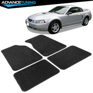 Fits 99 04 Ford Mustang 2dr Black Nylon Front Rear Car Floor Mats 4pc