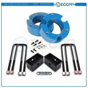 3 Front 3 Rear Leveling Lift Kit For Toyota Tacoma 2005 2019 2wd 4wd Blue