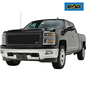 Eag Front Replacement Grille Rivet Steel Wire Mesh Fit 14 15 Silverado 1500