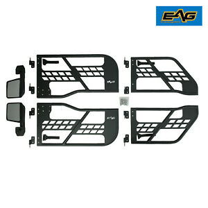 Eag Safari Replacement Tube Door With Mirror Fit For 07 18 Jeep Wrangler Jk 4 Dr