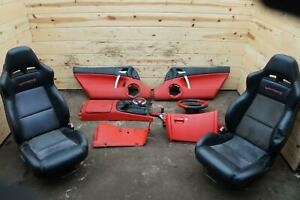 Set Mamba Red Seat Door Trim Panel Console Shift Dash Dodge Viper Srt 10 2005