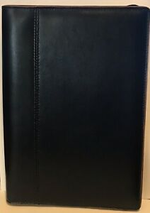 Baekgaard Rare Black Leather Zip Around Organizer Agenda Portfolio 10 X 7