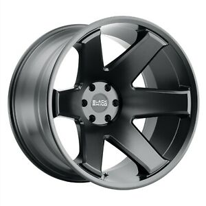 Set 4 Black Rhino Wheels Raze 20x12 8x165 1 44 Matte Black