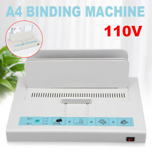 For A4 Paper Electric Hot Melt Glue Binding Machine Book Binder Automatic Diy